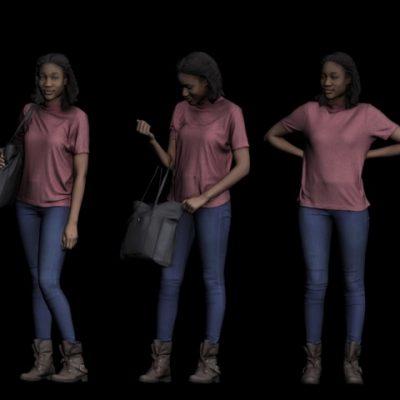 Girl 3D Model 2