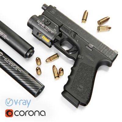 Glock 17 Gun 3D model