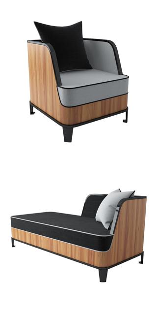 Glyn Peter Machin Sofa Set 3D Model 2