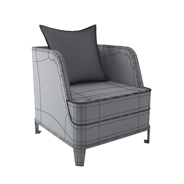 Glyn Peter Machin Sofa Set 3D Model 3