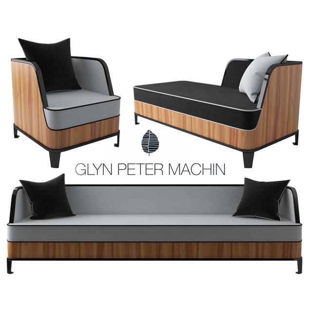 Glyn Peter Machin Sofa Set 3D Model
