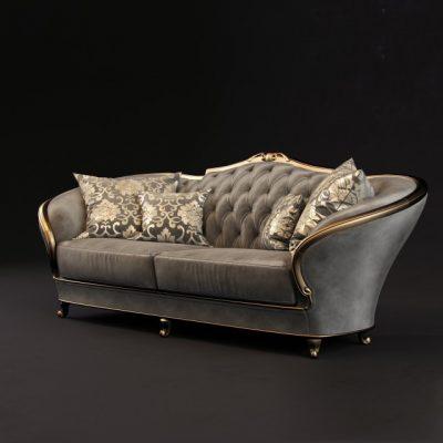 GoldComfort Sofa 3D Model