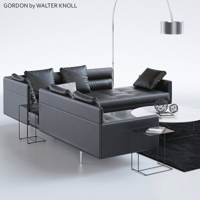 Gordon by Walter Knoll Sofa 3D model 2