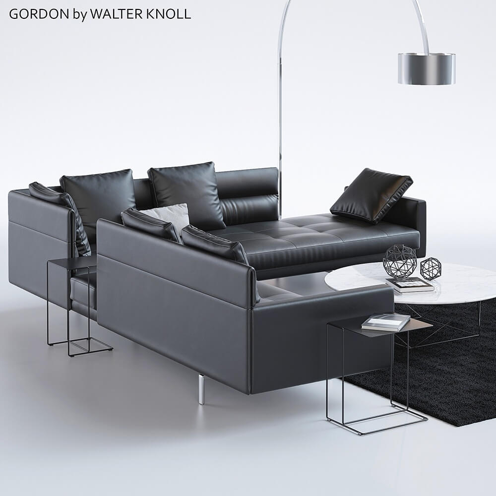 gordon by walter knoll sofa 3d model for download. Black Bedroom Furniture Sets. Home Design Ideas