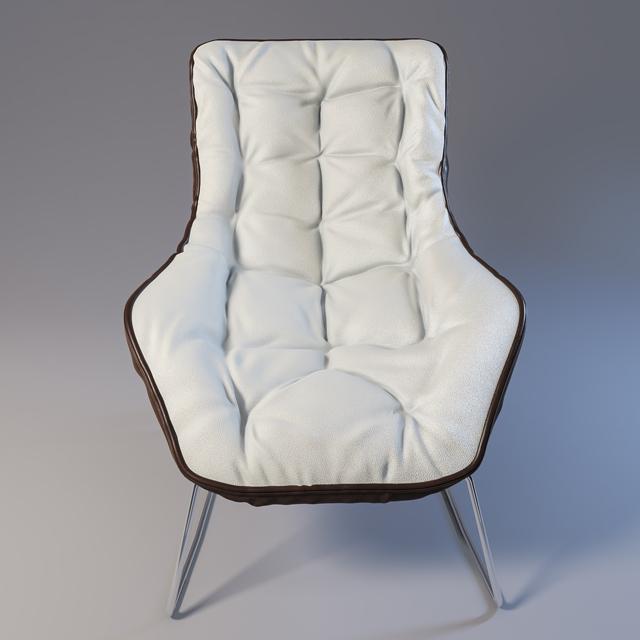 Grandtour Zanotta Chair 3D Model 2