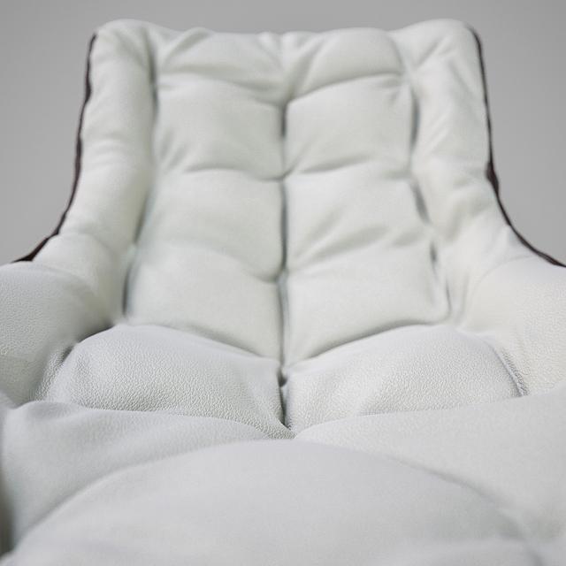 Grandtour Zanotta Chair 3D Model 3