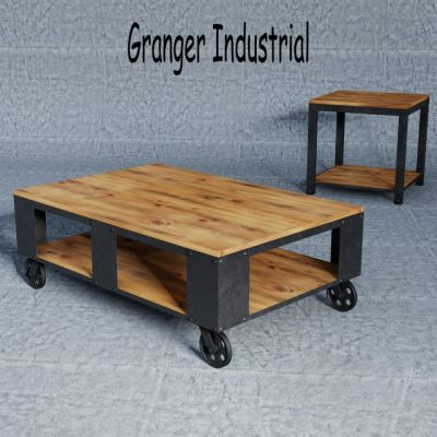 Granger Industrial Rustic Storage Occasional Table 3D Model