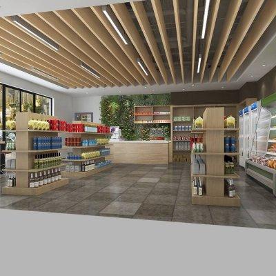 Grocery Shop 3D Model