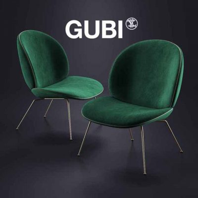 Gubi Beetle Lounge Armchair 3D Model