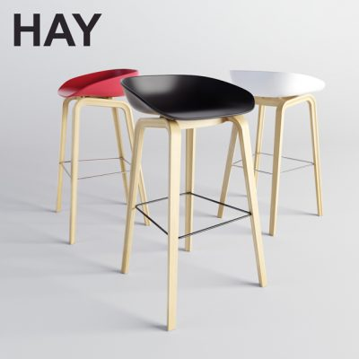 HAY About a Stool 3D Model