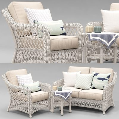 Hampton Seating Outdoor Furniture 3D Model