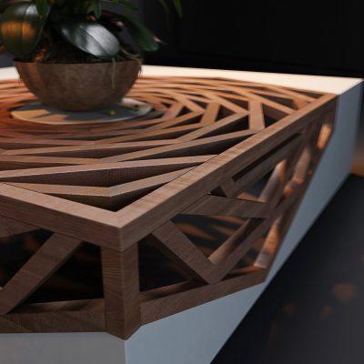 Hanako Cofee Table 3D Model