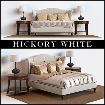 Hickory White 735-21 Bed 3D Model