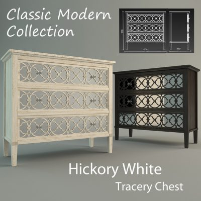 Hickory White Tracery Chest 3D Model