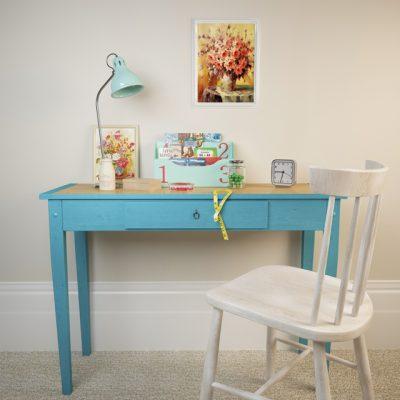 Home Decorative Desk & Chair 3D Model