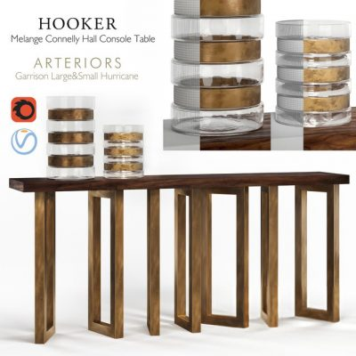 Hooker Melange Connelly Hall Console 3D Model