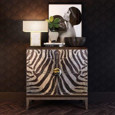 Horchow Vanna Zebra Cabinet 3D Model
