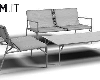 Horm Tout le Jour Sofa Set 3D Model