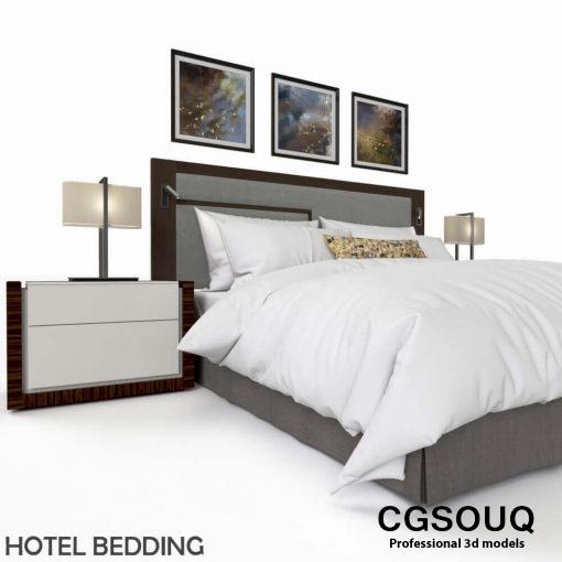 Hotel Bed 3D model 2