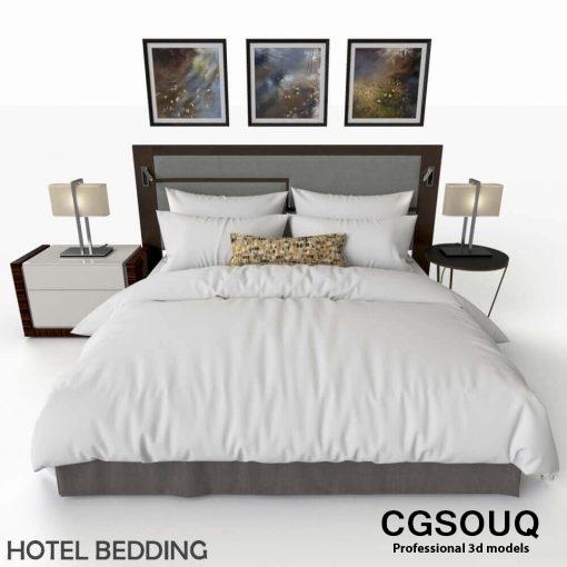 Hotel Bed 3D model