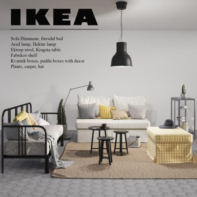 Ikea-2018 Sofa Set 3D Model