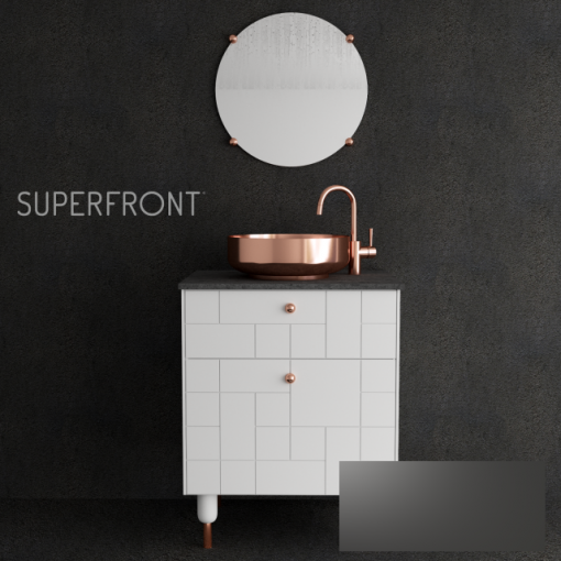 Ikea Copper Superfront Chest of Drawer 3D Model