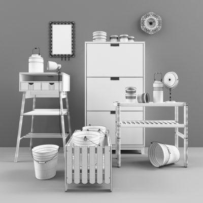 Ikea Decorative Set 3D Model 3
