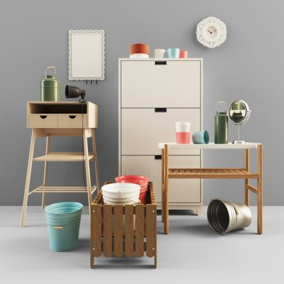 Ikea Decorative Set 3D Model