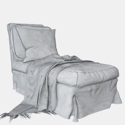Ikea Ektorp Chaise 3D Model