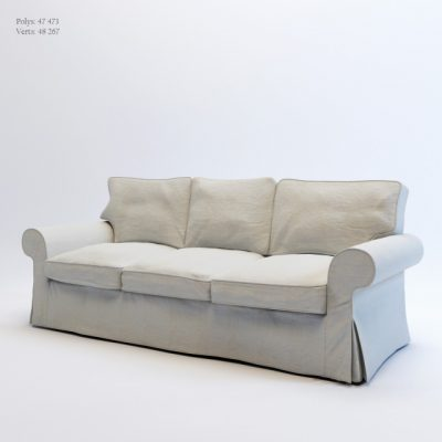 Ikea Ektorp Three Seat Sofa 3D Model