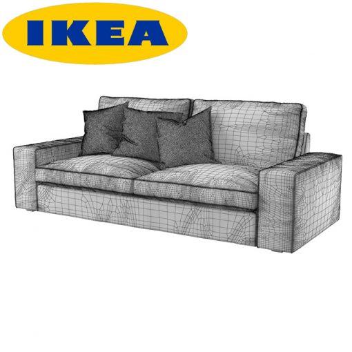 Ikea Kivik Sofa 3D Model 2