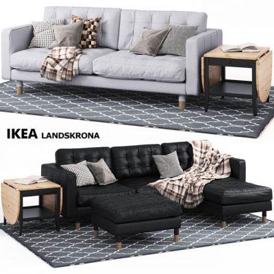 Ikea Landskrona Sofa Set 3D Model
