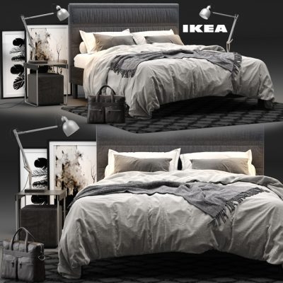 Ikea Oppland Bed 3D Model