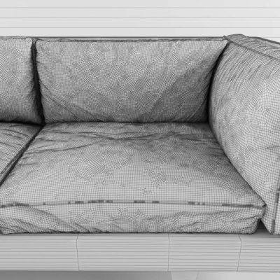 Illum Wikkelso Sofa 3D Model