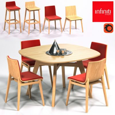 Infiniti Emma Series Table & Chair 3D Model