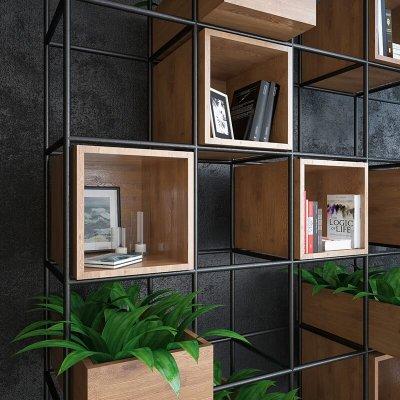 Iron Shelf decor 3d model