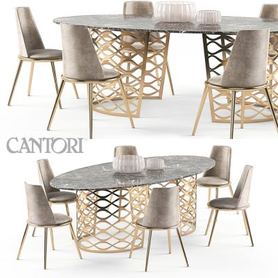 Isodoro And Aurora – Table & Chair 3D Model