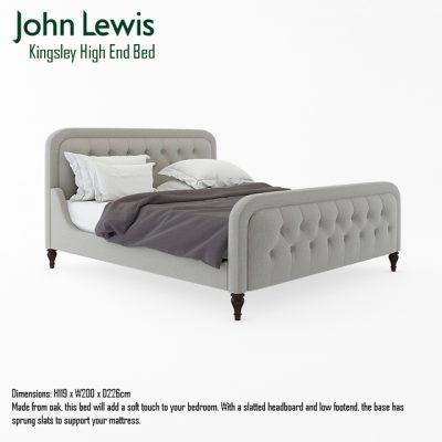 J Lewis Kingsley High End Bed 3D Model