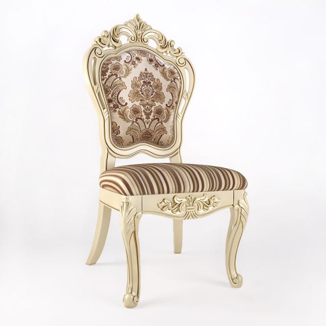 JF 2210B Ivory Chair 3D Model