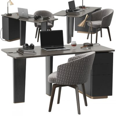 Jacob Table and Chair Set 3D Model