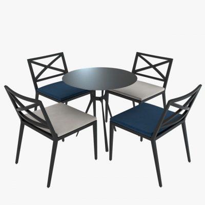 Janus Modern Table & Chair 3D Model