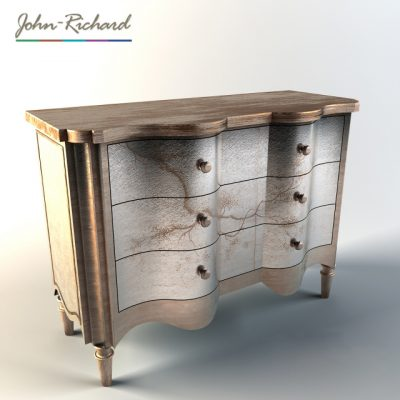 John Richard Portobello Serpentine Chest 3D Model