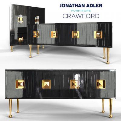 Jonathan Adler Crawford Cabinet 3D Model