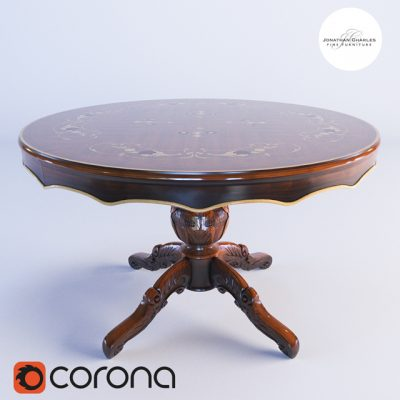Jonathan Charles Table-244 3D Model