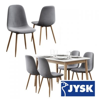 Jysk – Jonstrup and Gammelgab Table & Chair 3D Model