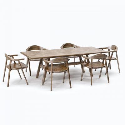 Kant Table & Mantis Side Chair 3D Model