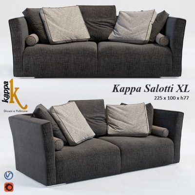 Kappa Salotti XL Sofa 3D Model