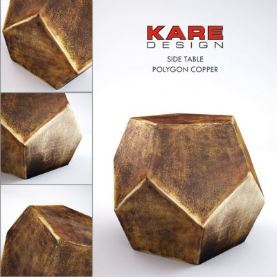 Kare Design Polygon Side Table 3D Model