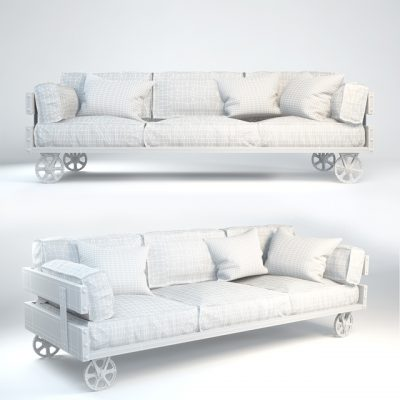 Kare Design Railway Sofa 3D Model