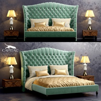 Kesy Capital Decor bed 3D model